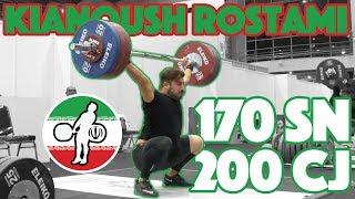 Kianoush Rostami (170kg Snatch + 200kg C&J + 255kg BS) - 2018 Asian Games [4k 50]