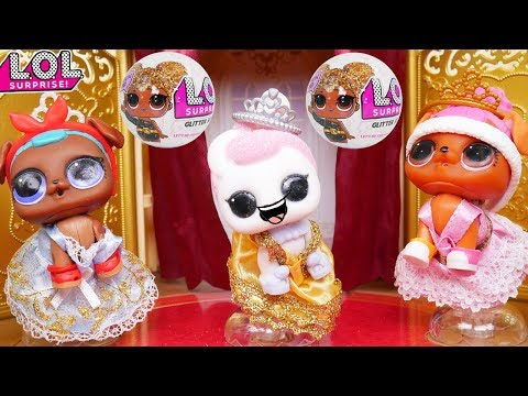 LOL Surprise Dolls Lil Sisters visit Pets in Ballet Theatre
