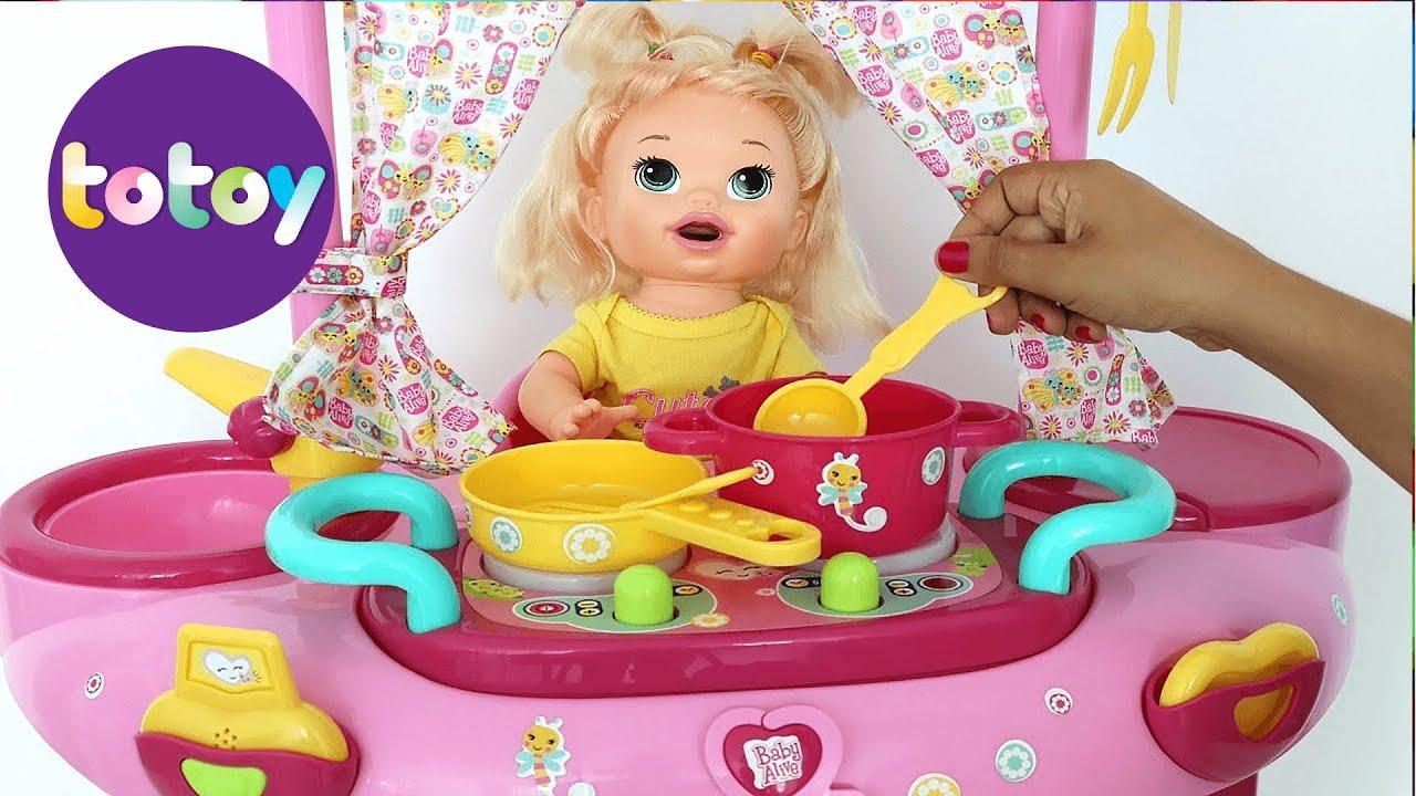 96450c2b9b Baby Alive Sara minha boneca Ganha Brinquedo Novo playset 3 em 1 toma Banho  Cozinha e Muito mais!!!