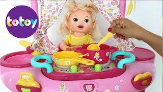 Baby Alive Sara minha boneca Ganha Brinquedo Novo playset 3 em 1 toma Banho Cozinha e Muito mais!!! thumbnail