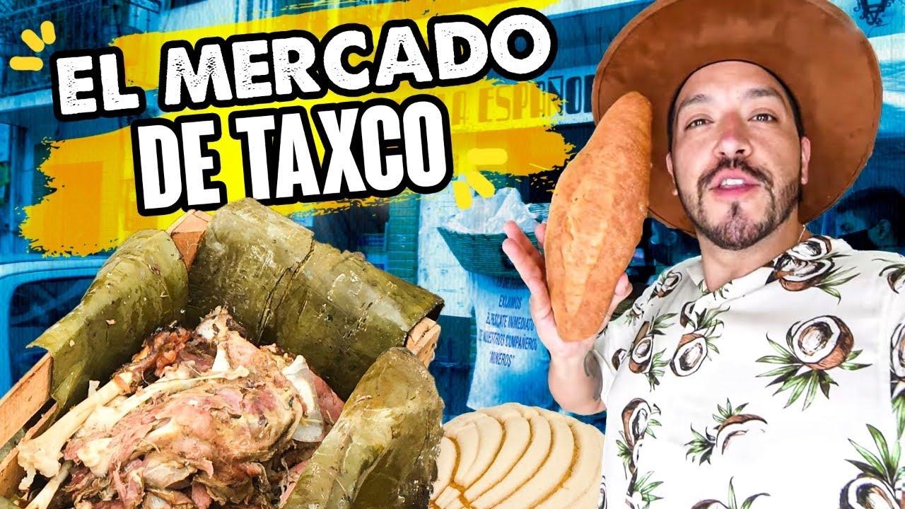 BARBACOA DE CHIVO y Panadería de más de 100 AÑOS en el Mercado de Taxco, Guerrero.