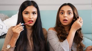 No Mirror Makeup Challenge ft. Mridul Sharma  What When Wear