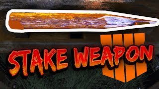 """BEST MELEE WEAPON!! VAMPIRE WOODEN STAKE (How to get it FAST) """"Dead of The Night"""" BO4 Zombies"""