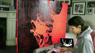 """""""The Red Stags"""" 2018, by Hannah Shergold"""