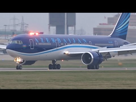 [FullHD] Azerbaijan Government Boeing 767-300(ER) landing at