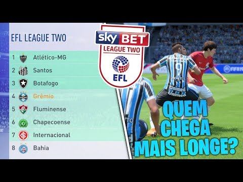 COLOQUEI *TODOS* OS TIMES DO BRASIL NA 4 DIVISÃO INGLESA | FIFA 19