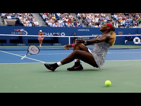 Serena Williams And Caroline Wozniacki Massive Rally From 2014 US Open Final