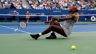 Serena Williams and Caroline Wozniacki Massive Rally from 2014 US Open Final