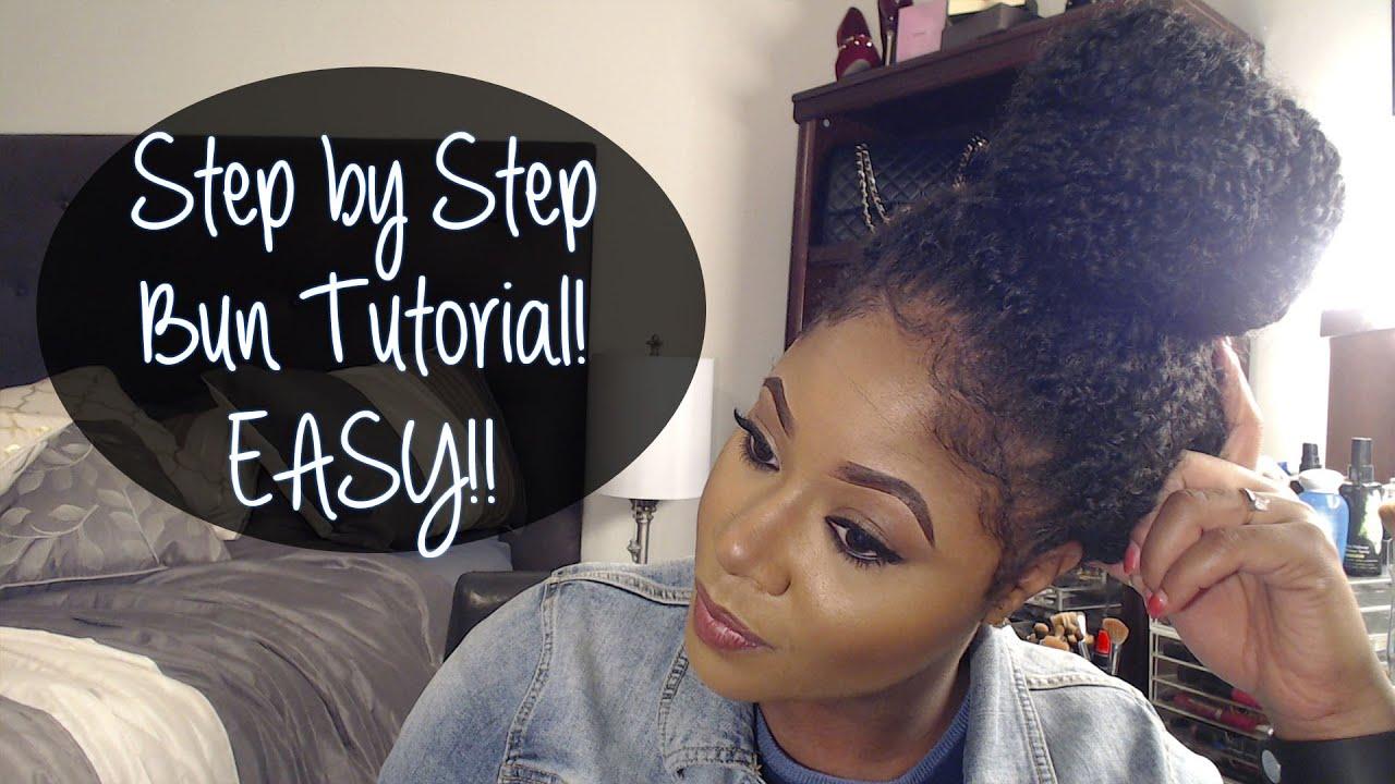 Step By Step High Bun Crochet Braids Tutorial Youtube