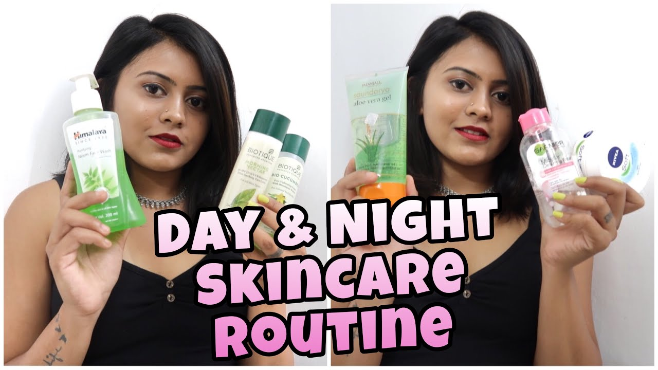 Day Night Skin Care Routine For Oily Acne Prone Combination Skin Youtube