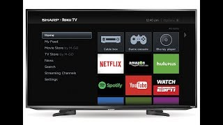 "SHARP ROKU TV 43"" 4K UHD TV UNBOXING"