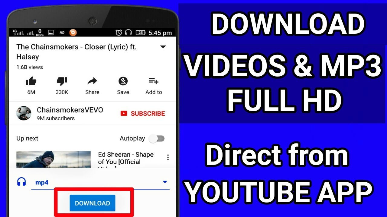 How To Download Youtube Videos Direct From Youtube Application