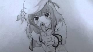 Angel Beats!のゆりっぺを描いてみました(´ω`* このアニメ見たことない...