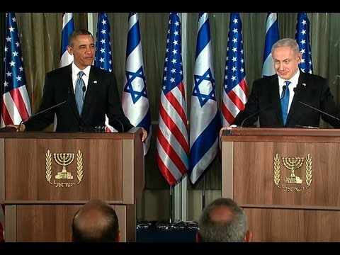 President Obama Holds A Press Conference With Prime Minister Netanyahu Of Israel