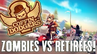 Coffin Dodgers Gameplay Part 1 - OLD PEOPLE VS ZOMBIES! (Let