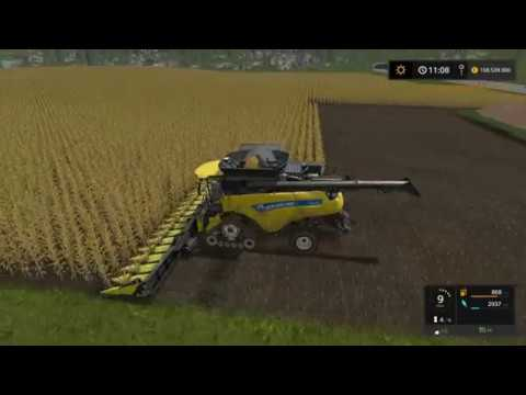 Let's Play Farming Simulator 2017 | Goldcrest Valley | harvesting corn | Episode 10