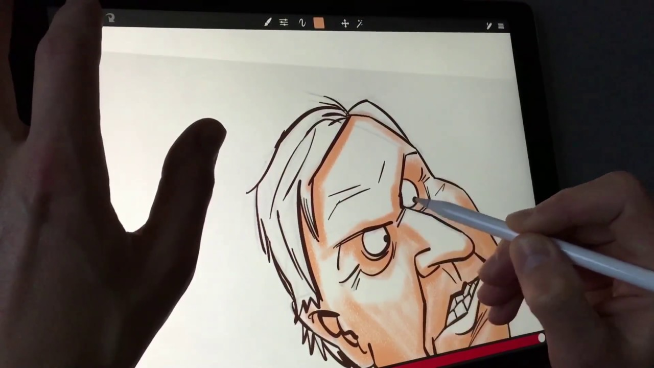 Apple pencil drawing on ipad pro in sketch club app