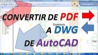 Convertir PDF A Dwg De Autocad Y Dxf Cad, Para Poder Editarlo