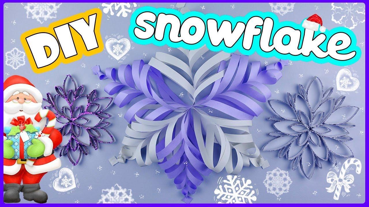 СНЕЖИНКИ из бумаги своими руками / Объемная снежинка / 2 варианта простых снежинок DIY