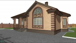 Проект универсального дома с террасой  B-022-ТП