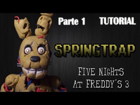 [Parte 1] Tutorial Springtrap en Plastilina | FNaF 3 | How to make a Springtrap with Clay