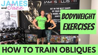 How To Train Obliques || Bodyweight Exercises || Exercise Demonstrations || Side Crunches || Bicycle
