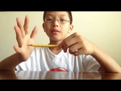 How to squish a pencil and vanish it!!!!!!!