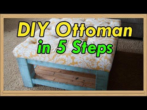 Create a DIY Ottoman in 5 Steps