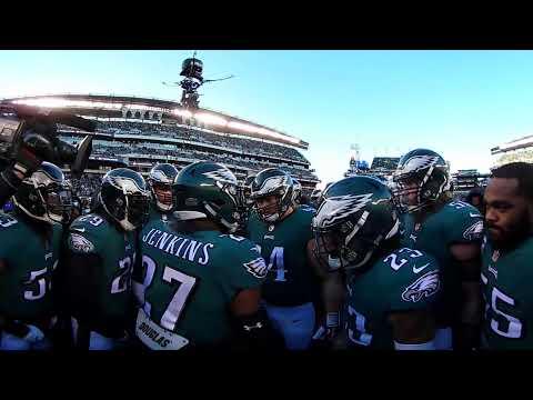Philadelphia Eagles: 360 View Of Pre-Game Huddle