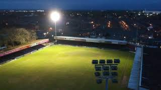 Bootham Crescent | Final Floodlight switch on