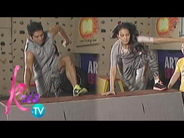 Kris TV: Gerald, Isabelle try Parkour
