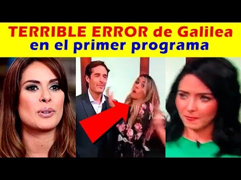 TERRIBLE ERROR de Galilea Montijo EN EL PRIMER PROGRAMA HOY (VIDEO)