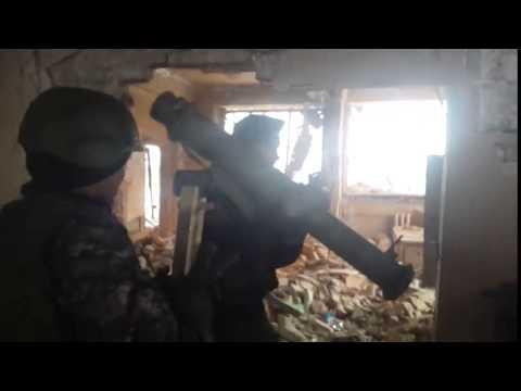 Спарта ведет бой, аэропорт, Донецк, январь 2015
