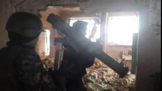 """""""Спарта"""" ведет бой, аэропорт, Донецк, январь 2015"""