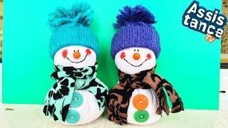 СНЕГОВИК Своими руками / НОВОГОДНИЕ ПОДЕЛКИ(В этом видео я вас научу делать красивого Снеговика из ткани. Мне приятно, что вы смотрите мои видео! ..., 2014-12-06T16:56:29.000Z)