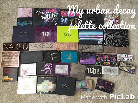 My Urban Decay Palette Collection (updated 2015)