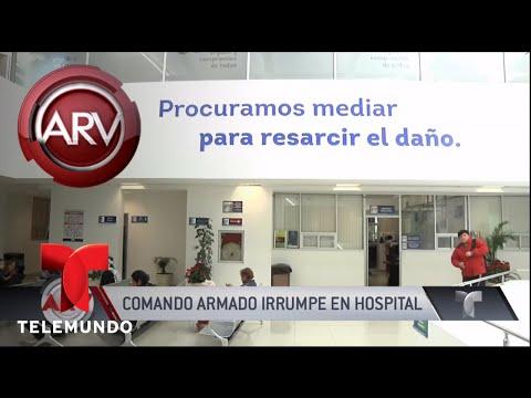 Sicarios irrumpen en un hospital y se arma la balacera   Al Rojo Vivo   Telemundo