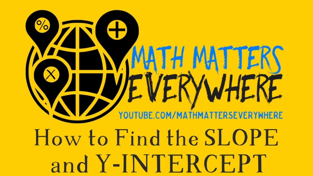 How to find the slope and y intercept video youtube how to find the slope and y intercept video falaconquin
