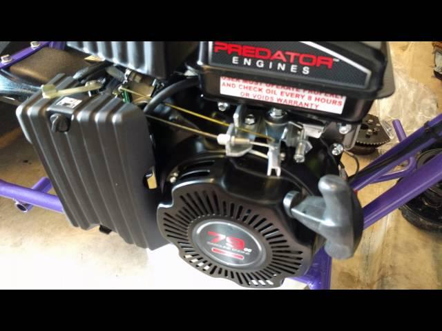 Riding Mower - 79cc Predator Engine Minibike Throttle Linkage