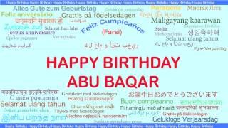 AbuBaqar  Languages Idiomas - Happy Birthday