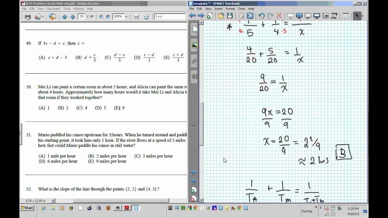 ELM EAP EPT math Test practice questions part IV 41 60 - YouTube