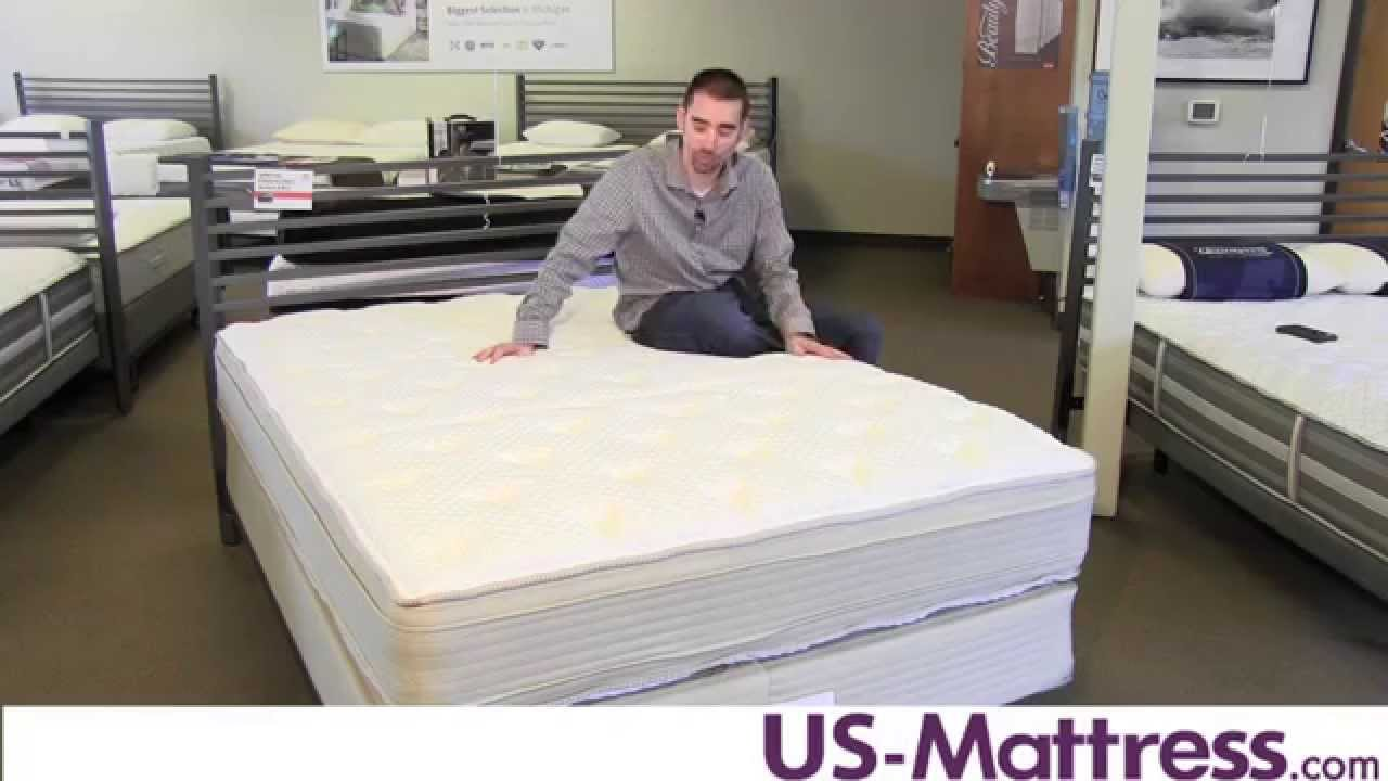 restonic comfort care andover pillow top double sided mattress youtube. Black Bedroom Furniture Sets. Home Design Ideas
