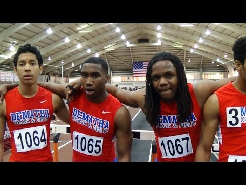 DeMatha MD boys 4x200 champs at 2014 Virginia Tech Invitational