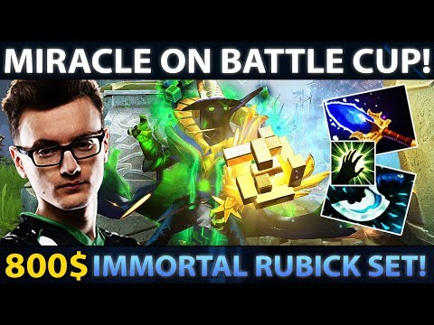 Miracle on Battle Cup Party with Gorgc & MagE-! 800$ Rubick Set - EPIC Comeback in Finals Dota 2