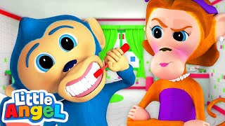 No No Healthy Habits with Baby Monkey | Kids Songs and Nursery Rhymes by Little Angel