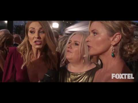 Kate Jenkinson, Tammy Macintosh & Celia Ireland  Logies Red Carpet