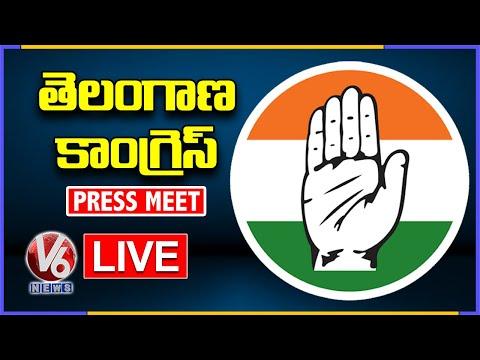 Congress Leaders Press Meet LIVE | Bhatti Vikramarka | Madhu Yashki Goud | V6 News