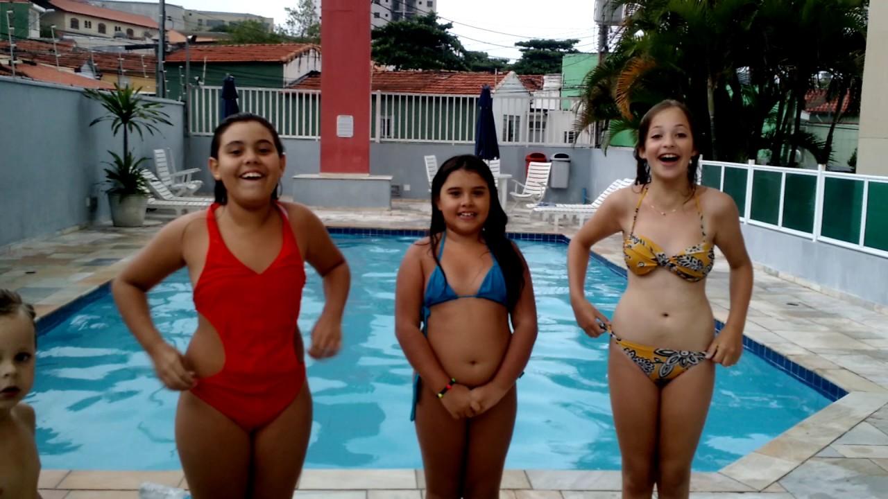 Desafio na piscina 😘