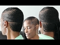 Small Feed in Side Braids► Cornrows on Short Natural Hair