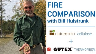 On-Site Fire Test: GUTEX Wood Fiber and Nature-Tech Cardboard Cellulose